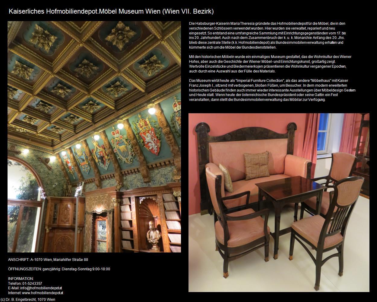 Kaiserliches Hofmobiliendepot.Möbel Museum Wien (07-VII. Bezirk ...